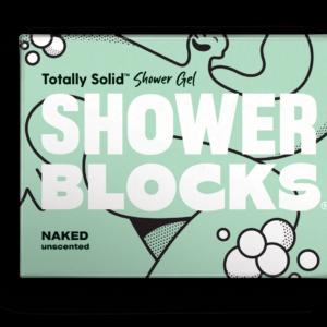 shower blocks, solid shower gel, naked shower gel, soap for the shower